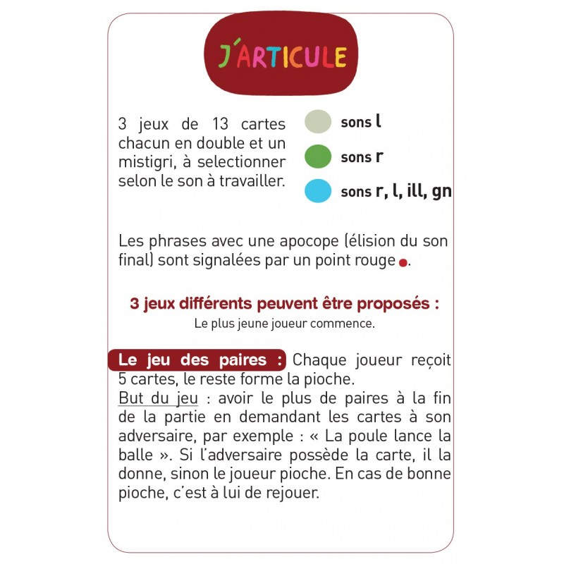 J'articule R,L,ILL,GN