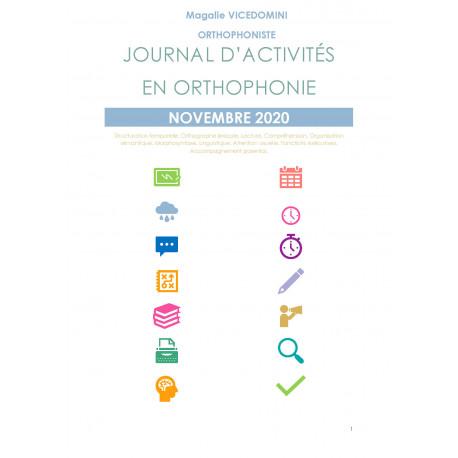 //PDF// Journal d'activités en orthophonie - Novembre