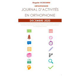 //PDF// Journal d'activités en orthophonie - Décembre