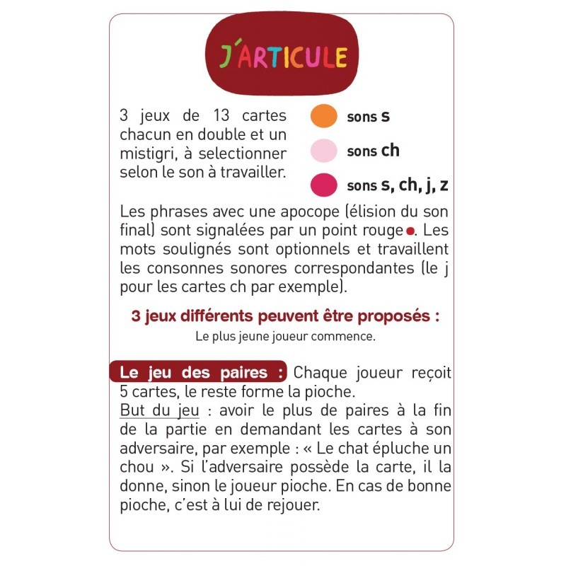 J'articule S,CH,J,Z